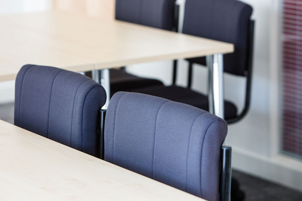 Indestructible Student Chair - colour range and fabric swatches