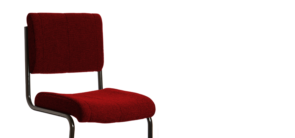 Bon The Indestructible Student Chair   Dark Red Colour