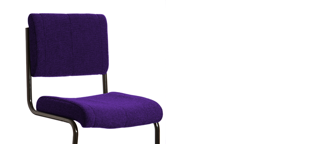 The Indestructible Student Chair - purple colour
